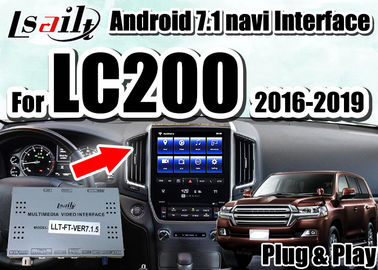 China Interfaz video de las multimedias de Lsailt con el accesorio IOS/Android CarPlay para Land Cruiser 2016-2019 LC200 proveedor