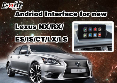 Interfaz video de Android 6,0 Lexus para 2014 - 2017 RX/ES/ES/ES/NX/LX/LS con la red de WIFI
